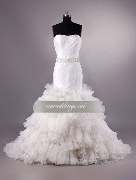 Menyasszonyi ruha sellő fazonú ujjatlan-SFU-10854