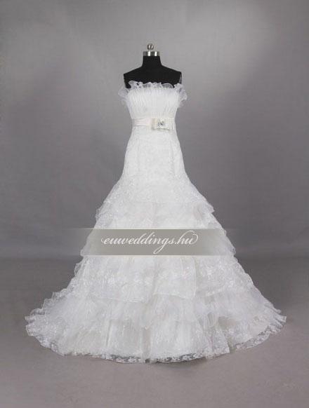 Menyasszonyi ruha sellő fazonú ujjatlan-SFU-10859