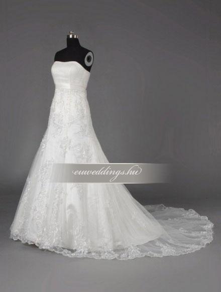 Menyasszonyi ruha sellő fazonú ujjatlan-SFU-10889