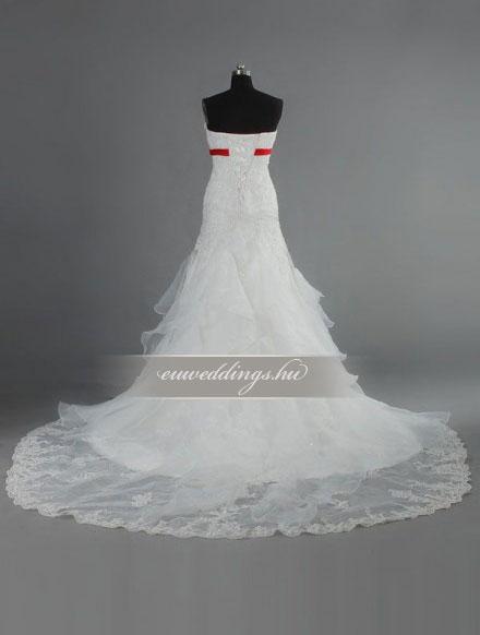 Menyasszonyi ruha sellő fazonú ujjatlan-SFU-10899