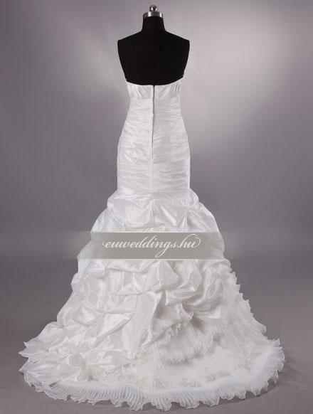 Menyasszonyi ruha sellő fazonú ujjatlan-SFU-10903