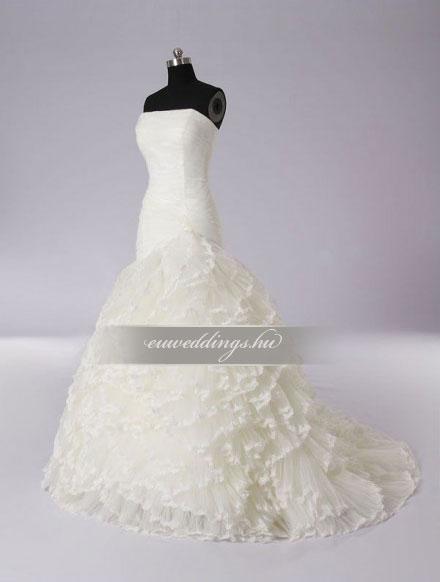 Menyasszonyi ruha sellő fazonú ujjatlan-SFU-10908