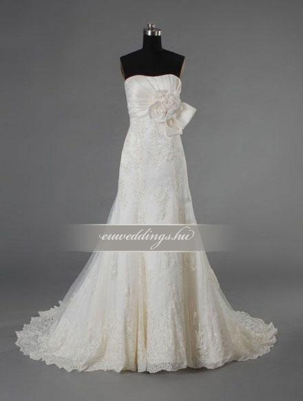 Menyasszonyi ruha sellő fazonú ujjatlan-SFU-10936