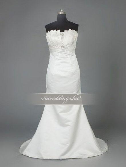 Menyasszonyi ruha sellő fazonú ujjatlan-SFU-10941