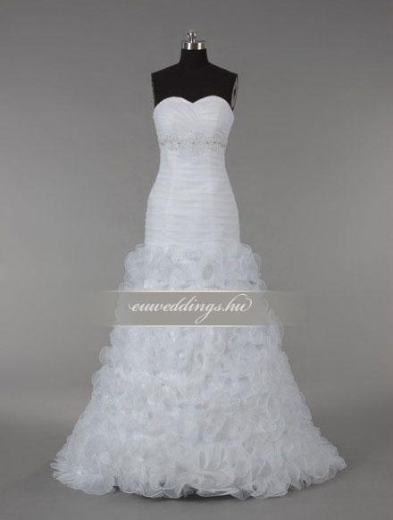Menyasszonyi ruha sellő fazonú ujjatlan-SFU-10997