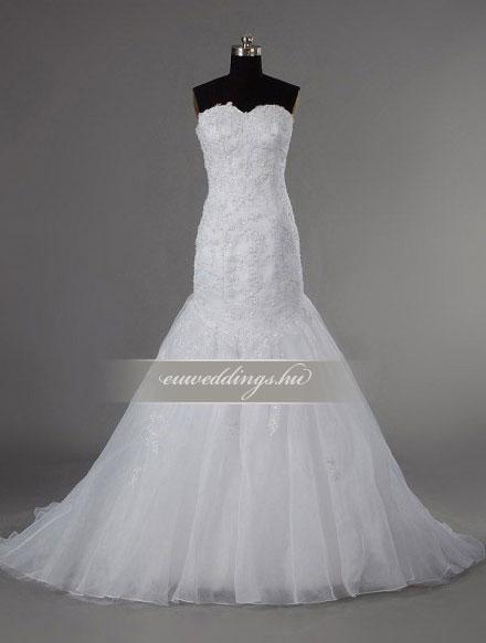 Menyasszonyi ruha sellő fazonú ujjatlan-SFU-11034