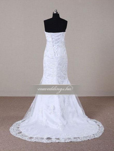 Menyasszonyi ruha sellő fazonú ujjatlan-SFU-11090