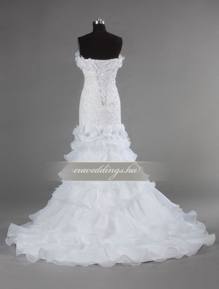 Menyasszonyi ruha sellő fazonú ujjatlan-SFU-11098