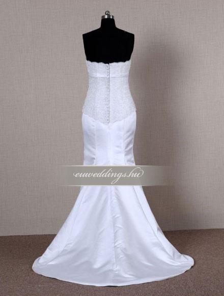 Menyasszonyi ruha sellő fazonú ujjatlan-SFU-11107