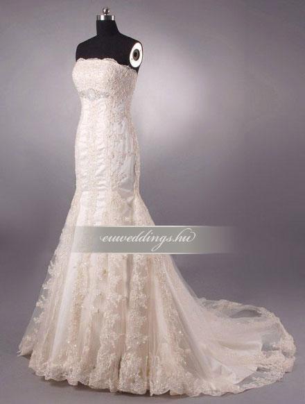 Menyasszonyi ruha sellő fazonú ujjatlan-SFU-11111