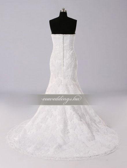 Menyasszonyi ruha sellő fazonú ujjatlan-SFU-11116