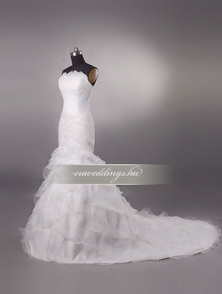 Menyasszonyi ruha sellő fazonú ujjatlan-SFU-11125