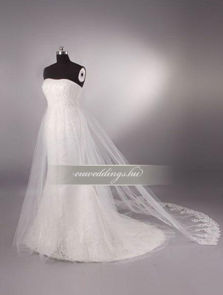 Menyasszonyi ruha sellő fazonú ujjatlan-SFU-11140