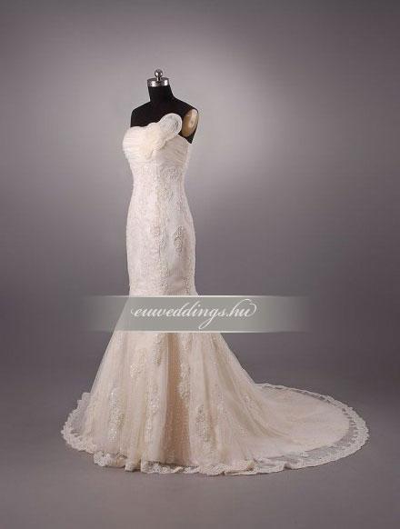 Menyasszonyi ruha sellő fazonú ujjatlan-SFU-11145