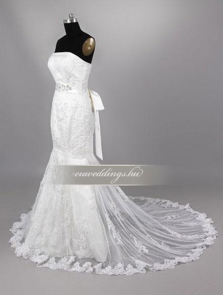 Menyasszonyi ruha sellő fazonú ujjatlan-SFU-11155