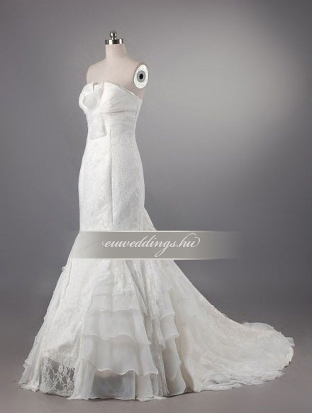 Menyasszonyi ruha sellő fazonú ujjatlan-SFU-11160