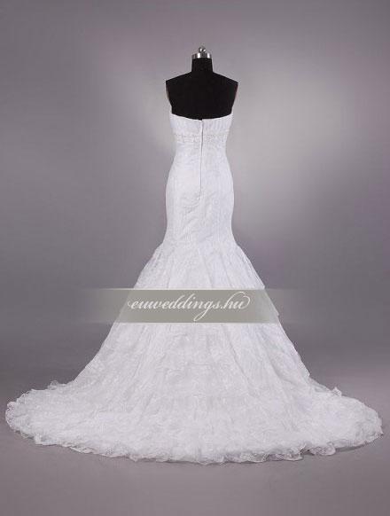 Menyasszonyi ruha sellő fazonú ujjatlan-SFU-11165