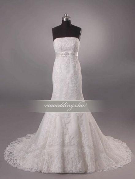 Menyasszonyi ruha sellő fazonú ujjatlan-SFU-11169
