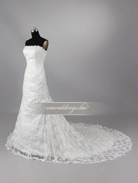 Menyasszonyi ruha sellő fazonú ujjatlan-SFU-11174