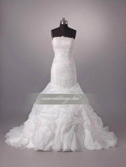 Menyasszonyi ruha sellő fazonú ujjatlan-SFU-11179
