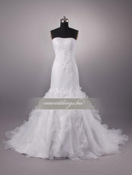 Menyasszonyi ruha sellő fazonú ujjatlan-SFU-11189