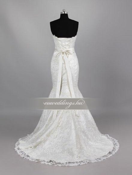 Menyasszonyi ruha sellő fazonú ujjatlan-SFU-11204