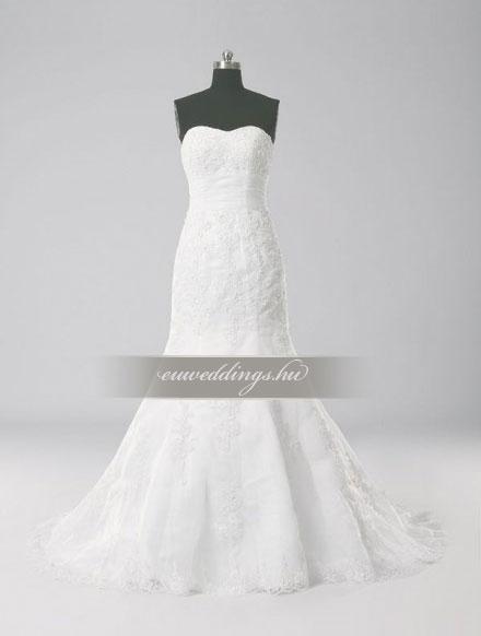 Menyasszonyi ruha sellő fazonú ujjatlan-SFU-11214