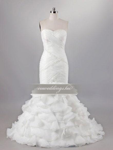 Menyasszonyi ruha sellő fazonú ujjatlan-SFU-11224