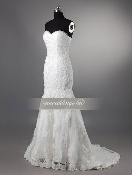 Menyasszonyi ruha sellő fazonú ujjatlan-SFU-11257