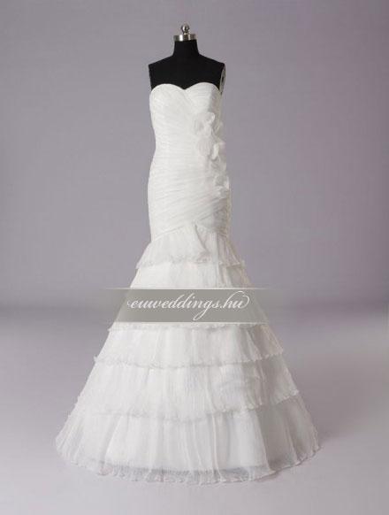 Menyasszonyi ruha sellő fazonú ujjatlan-SFU-11267
