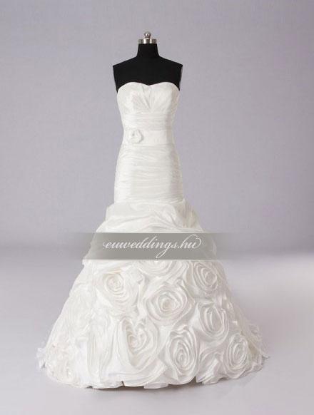 Menyasszonyi ruha sellő fazonú ujjatlan-SFU-11272