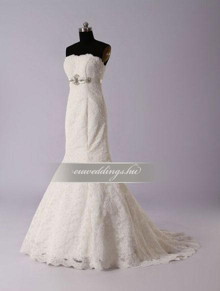 Menyasszonyi ruha sellő fazonú ujjatlan-SFU-11287