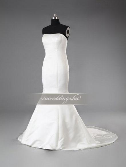 Menyasszonyi ruha sellő fazonú ujjatlan-SFU-11297