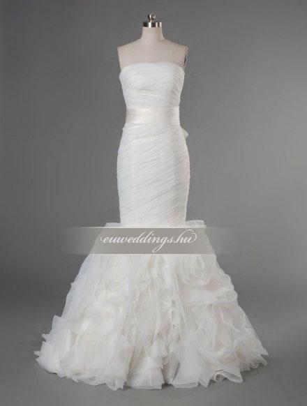 Menyasszonyi ruha sellő fazonú ujjatlan-SFU-11306