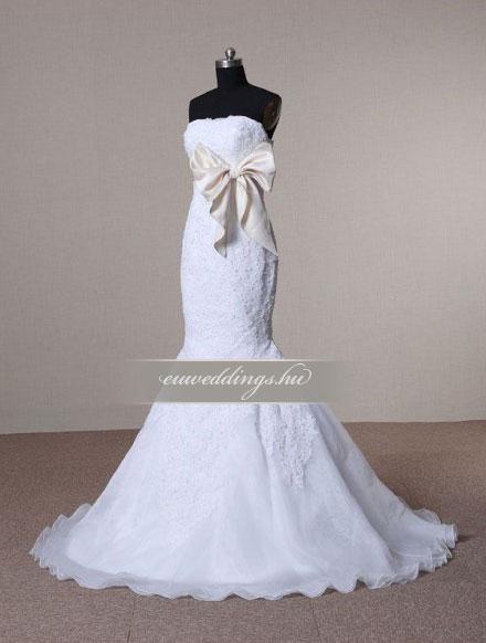 Menyasszonyi ruha sellő fazonú ujjatlan-SFU-11310