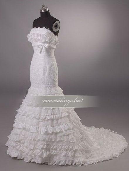 Menyasszonyi ruha sellő fazonú ujjatlan-SFU-11323