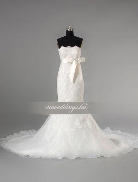 Menyasszonyi ruha sellő fazonú ujjatlan-SFU-11328