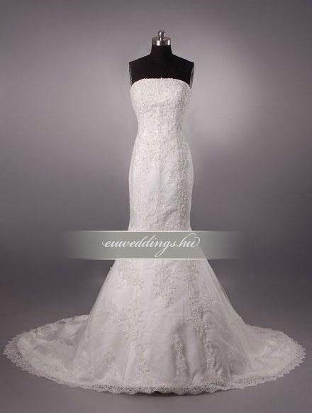Menyasszonyi ruha sellő fazonú ujjatlan-SFU-11333