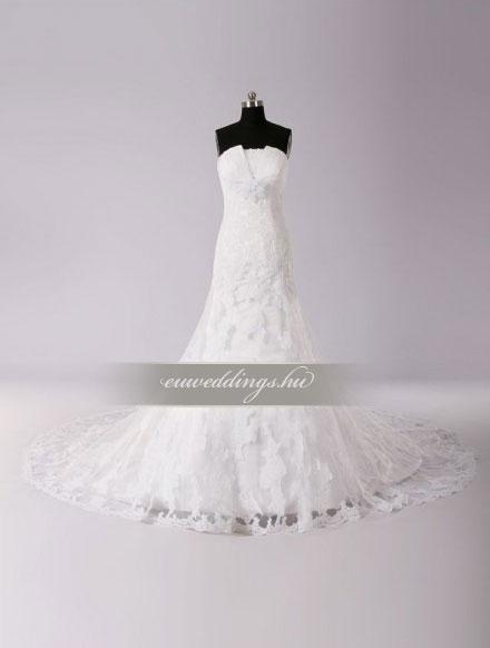 Menyasszonyi ruha sellő fazonú ujjatlan-SFU-11338