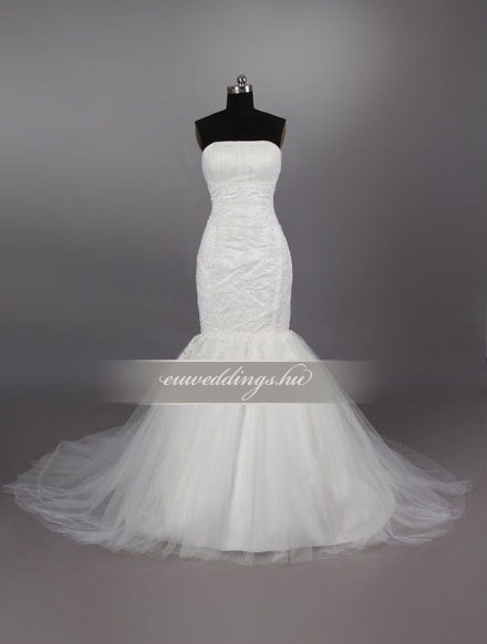 Menyasszonyi ruha sellő fazonú ujjatlan-SFU-11343