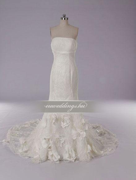 Menyasszonyi ruha sellő fazonú ujjatlan-SFU-11353