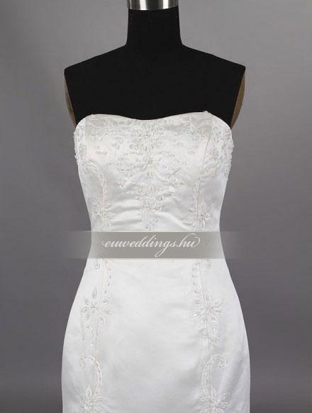 Menyasszonyi ruha sellő fazonú ujjatlan-SFU-11463