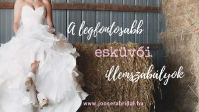 A legfontosabb esküvői illemszabályok