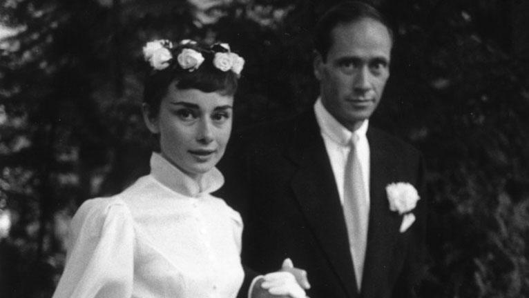 Audrey Hepburn esküvői ruhája