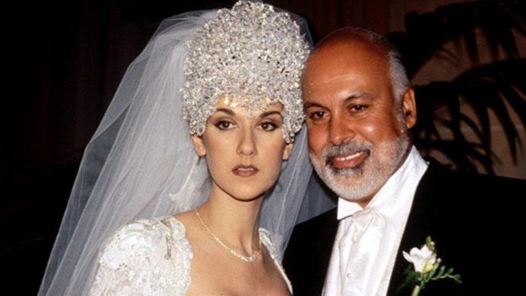 Celine Dion menyasszonyi ruhája