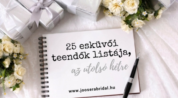 25 esküvői teendők listája